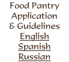 Food Pantry Application & Guidelines English Spanish Russian